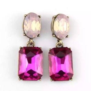Kate Spade Pink & Gold Dangling Drop Earrings